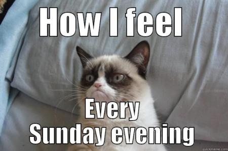 How I feel Sunday evening