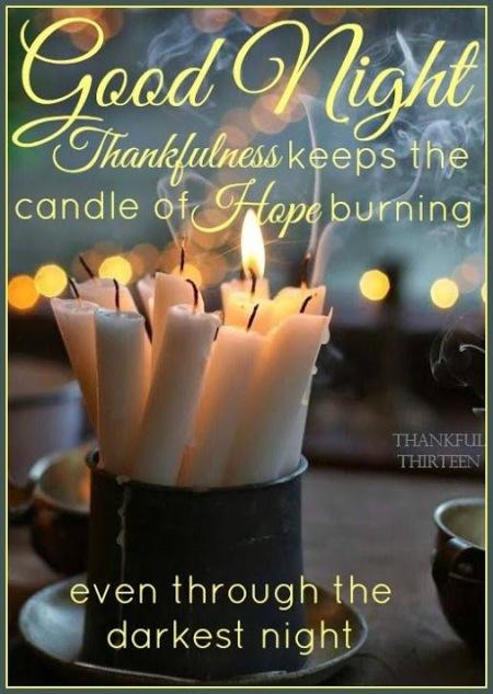 Good night thankfulness