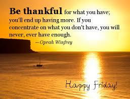 Thankful Friday